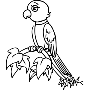 Tired Bird coloring page