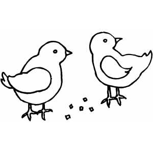 Two Chicks coloring page
