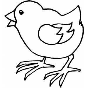 Chick Coloring Pages Walking Chick Coloring Page