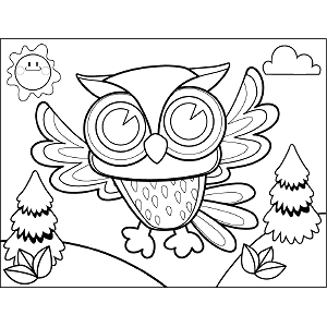 Wise Owl coloring page