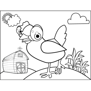 Young Chicken coloring page