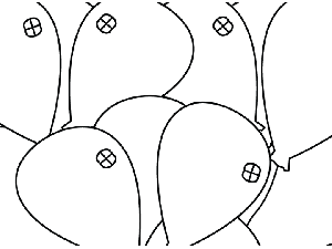 Balloon Closeup coloring page