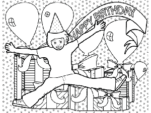 Birthday Surprise coloring page