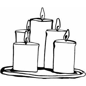 Candle Group Coloring Page
