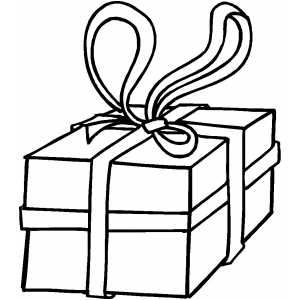 Gift With Big Bow coloring page