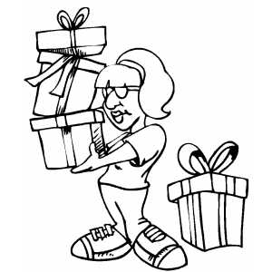 Girl With Gifts coloring page