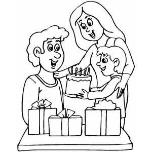 Guy Birthday coloring page