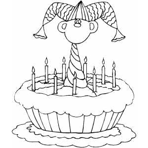 Jester Cake coloring page