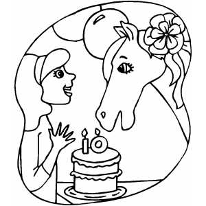 Kids 10th Birthday coloring page
