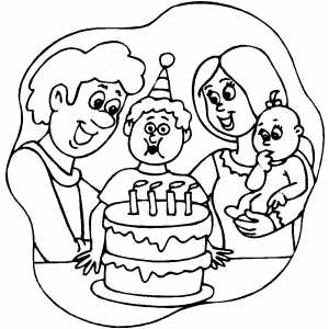 Kids 4th Birthday coloring page