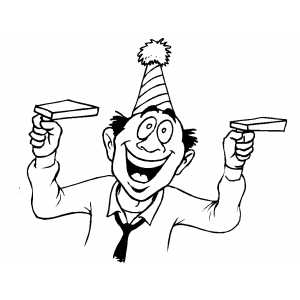 Smiling Party Guy coloring page