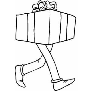 Walking Gift coloring page