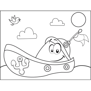 Happy Dinghy coloring page