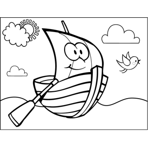 Happy Rowboat coloring page