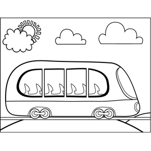 City Bus coloring page