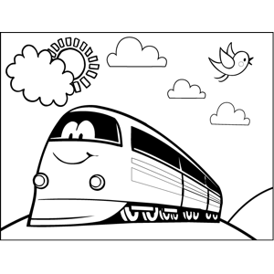Smiling Bus coloring page