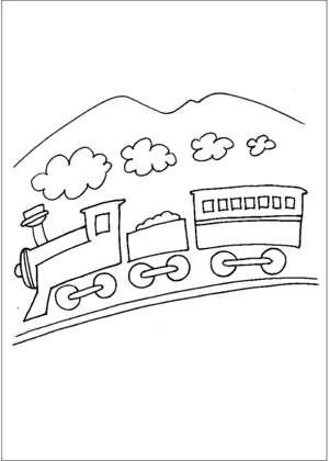 Train And Smoke coloring page