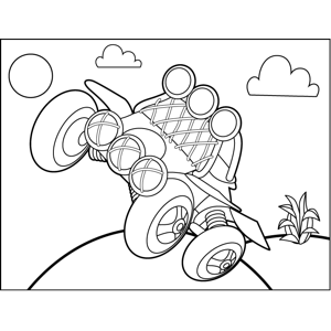 4-Wheeler coloring page