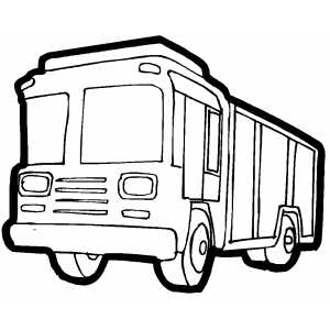 Big Cargo Truck coloring page