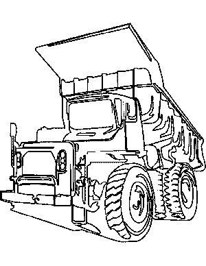 Big Dump Truck Coloring Page