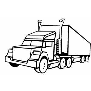 Big truck coloring page for Big trucks coloring pages