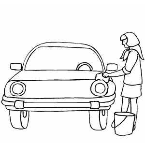 Car Wash coloring page