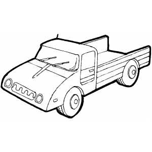 Cargo Truck coloring page