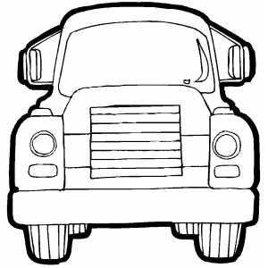 Cargo Truck Front coloring page