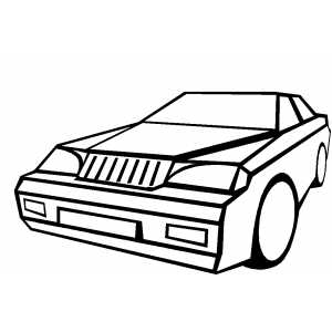 Cartoon Limousine coloring page