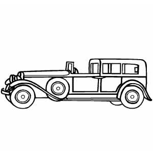 Classic 19th Century Beginning Car coloring page