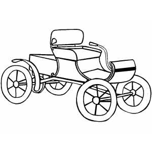 Classic Old Car Coloring Page
