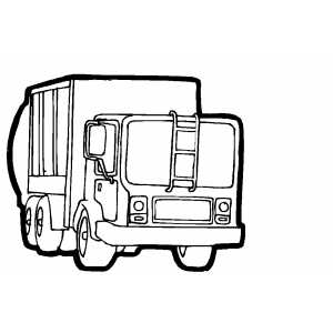Container Truck Coloring Page