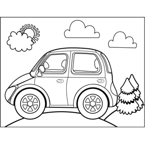 Electric Car coloring page