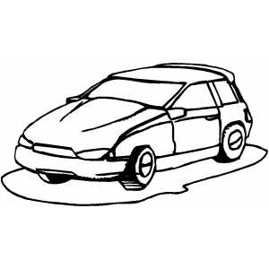 Hatchback coloring page