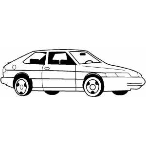 Hatchback Car coloring page