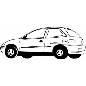 Hatchback From Side coloring page