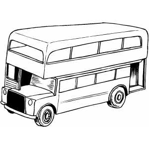 High Bus coloring page