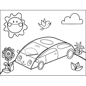 Hybrid Automobile coloring page
