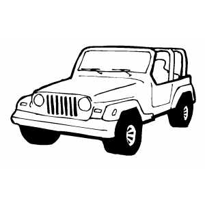 Jeep Wrangler Coloring Page