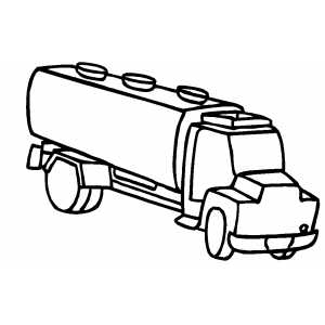 Milk Truck coloring page