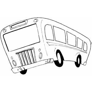 Moving Bus coloring page