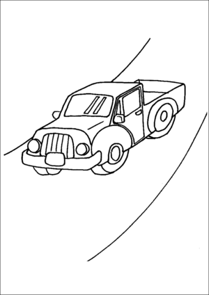 Old Pickup Truck coloring page