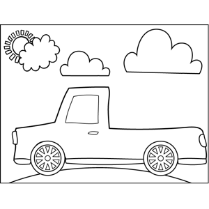 Pickup Trunk coloring page