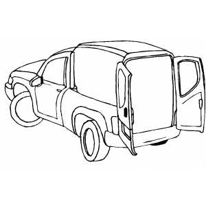 Post Truck coloring page