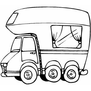RV coloring page