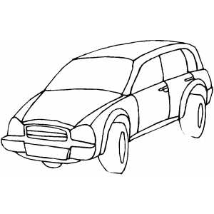 Sedan Cartoon coloring page
