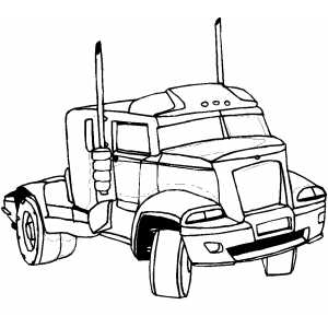 Semi Car coloring page