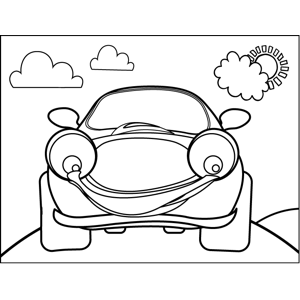 Smiling Car coloring page