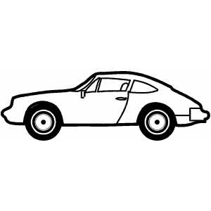 Sport Two Doors Car coloring page