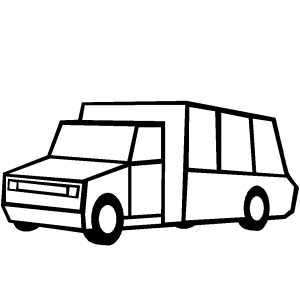 Square Trucktoon coloring page
